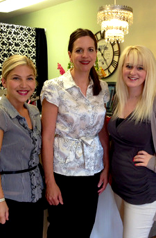 Lisa Crosier and her skincare team.