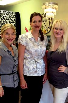 Lisa Crosier and her skincare team.